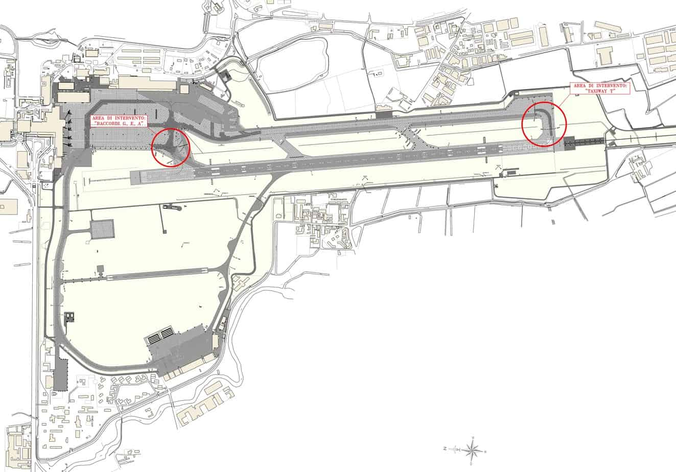 Le aree d'intervento presso l'aeroporto di Milano Linate