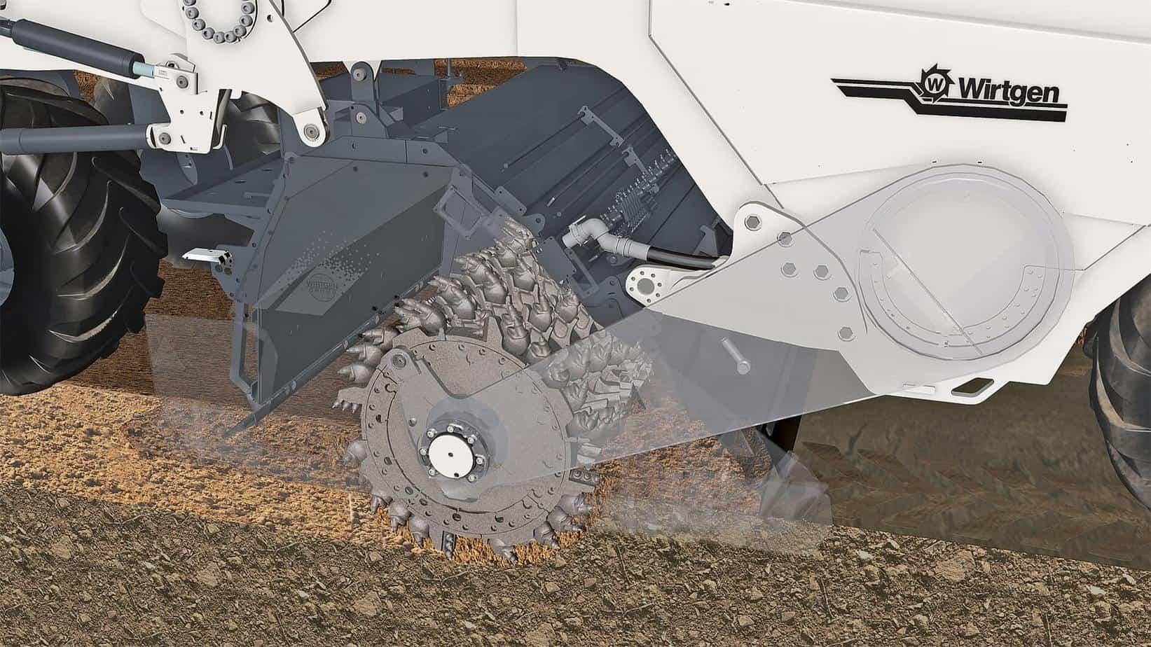 Il rotore di fresatura e miscelazione si porta nella posizione preselezionata