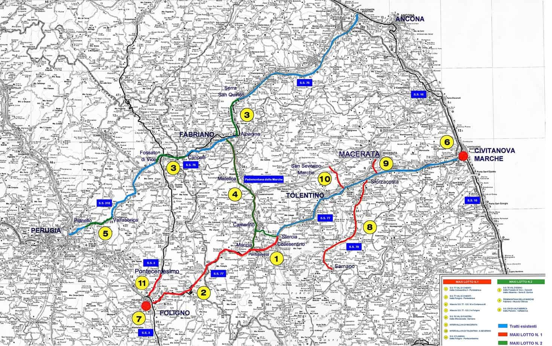 Il sistema viario del Quadrilatero Marche-Umbria