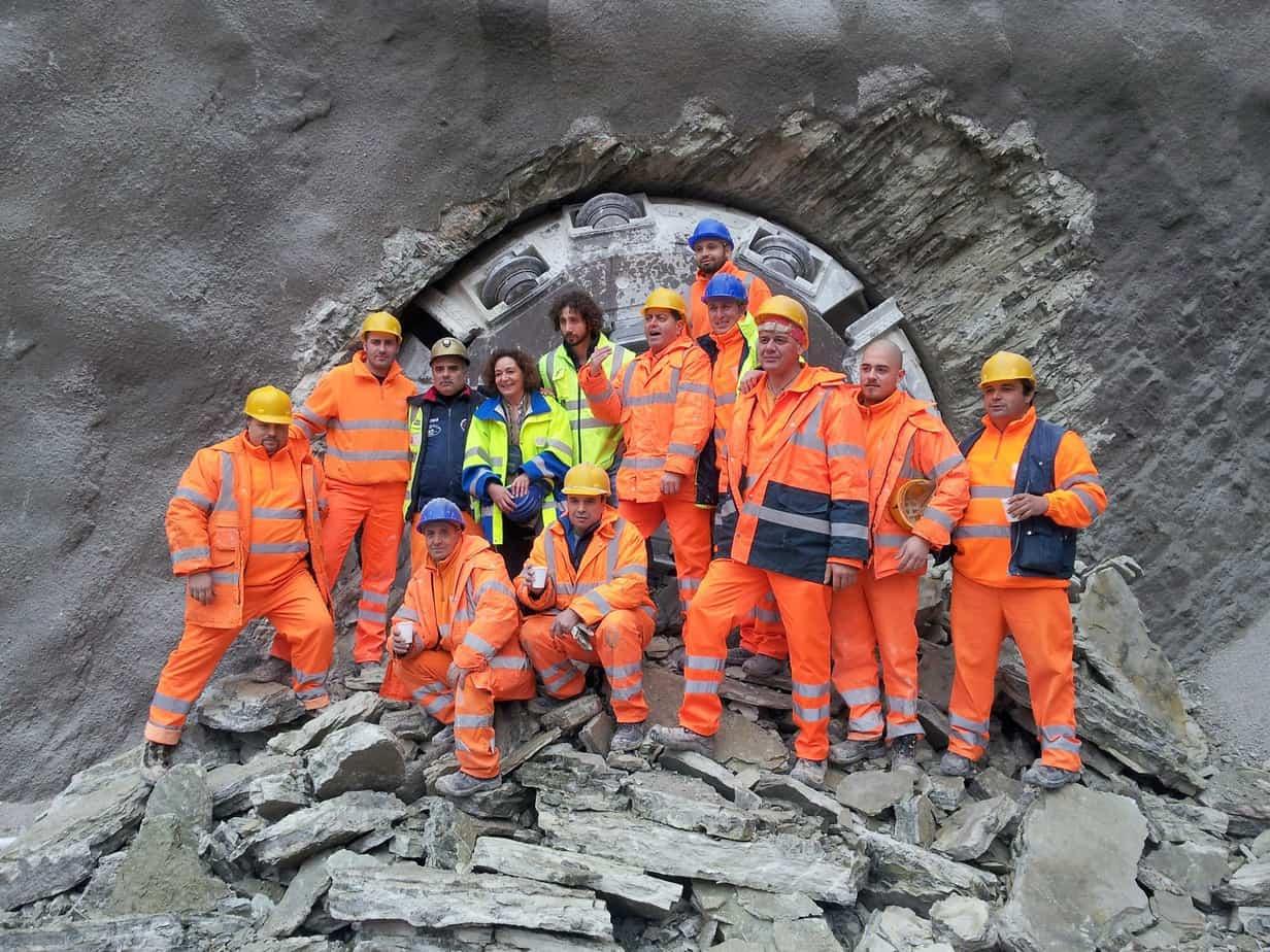La fine dello scavo con TBM sulla S.S. 76 il 27 Novembre 2012