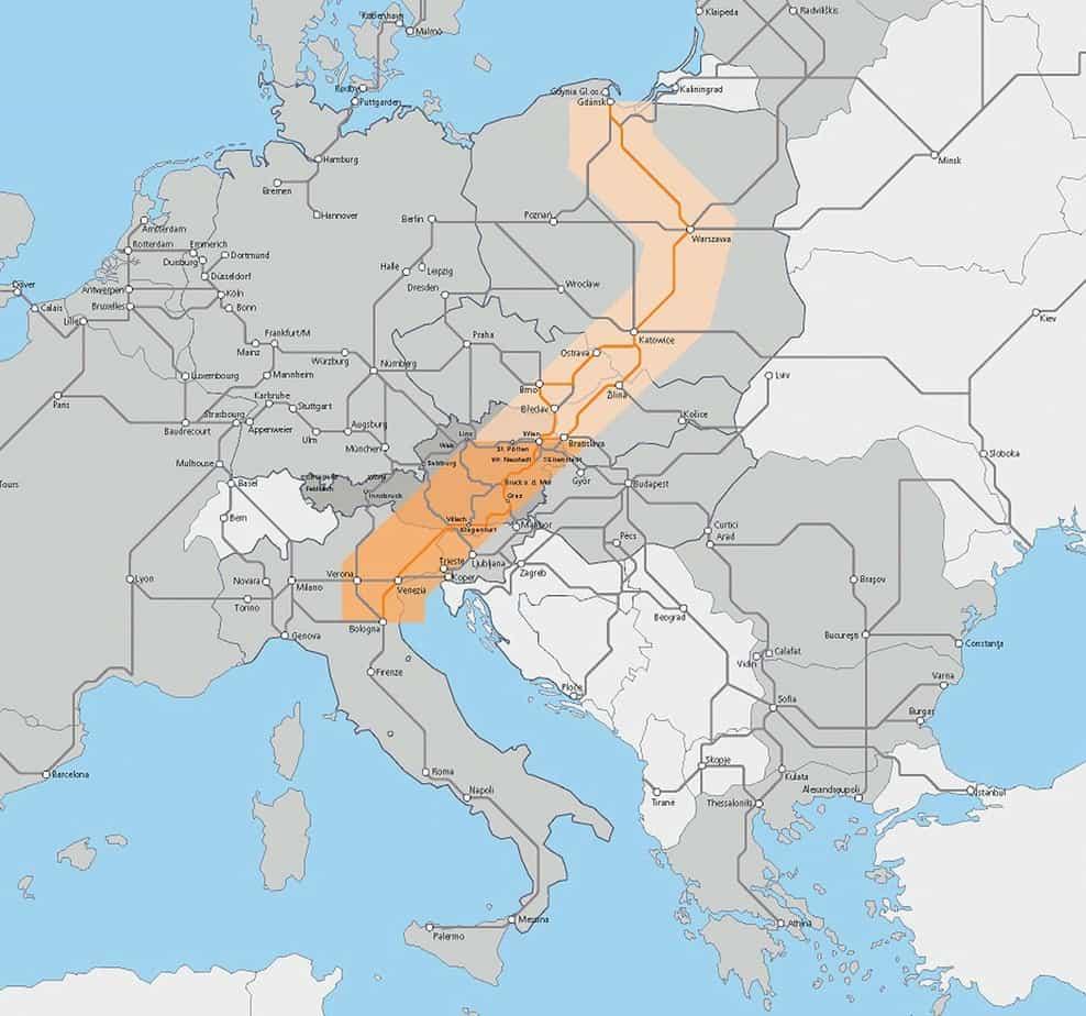 Il corridoio Baltico della rete TEN-T transeuropea