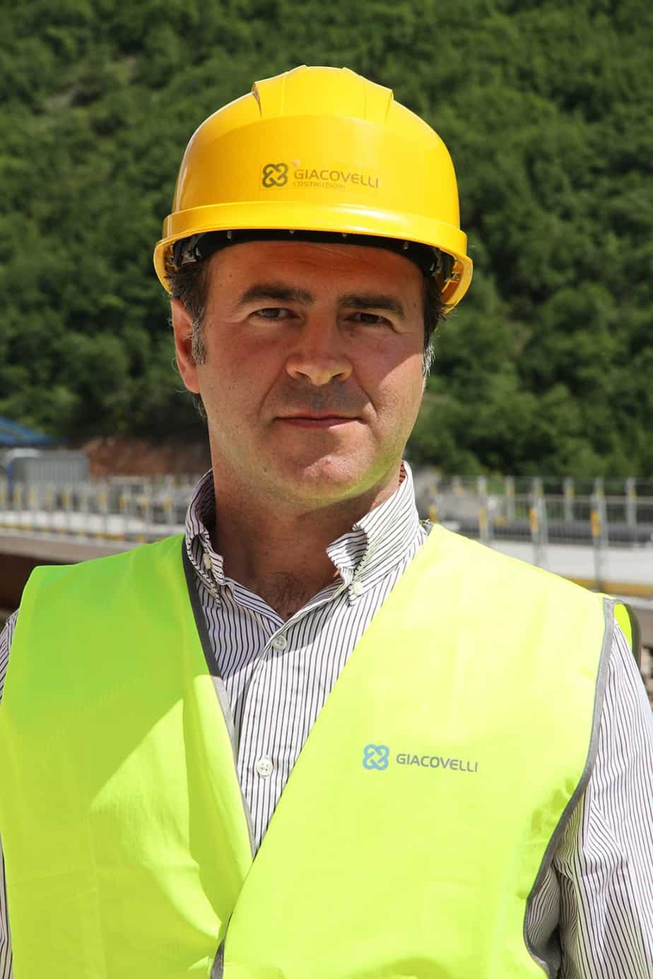 L'Ing. Edgar Micheluzzi, Direttore Tecnico dell'Impresa Giacovelli Srl