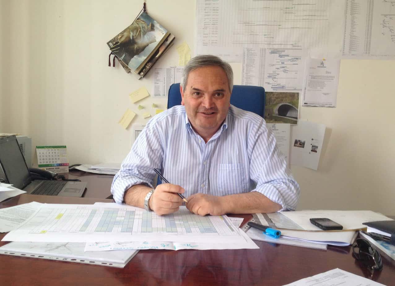 L'Ing. Renato Petrucci dell'Impresa Grandi Lavori Fincosit (Direttore Tecnico di lotto)