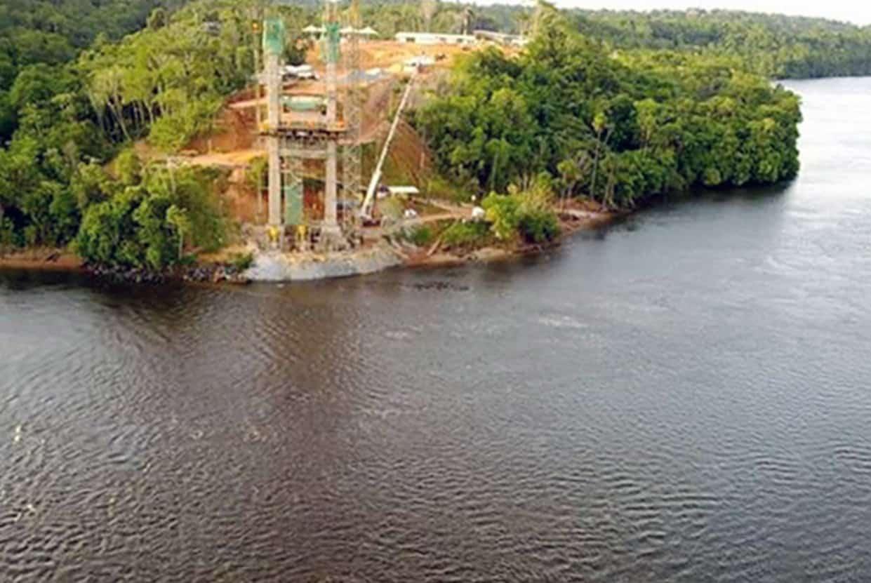 Una vista del pilone Nord, lato Guyana