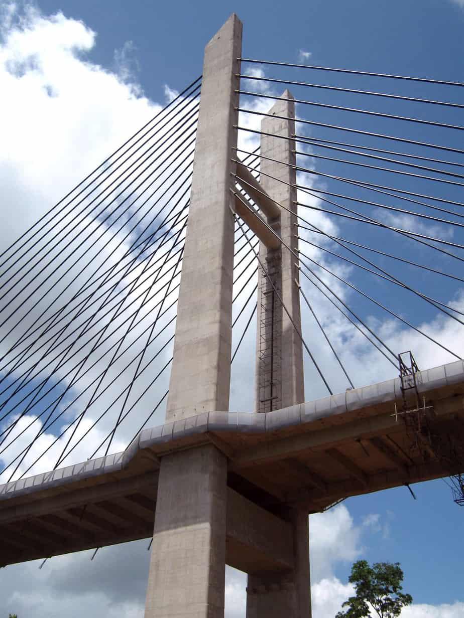 La struttura del ponte completato
