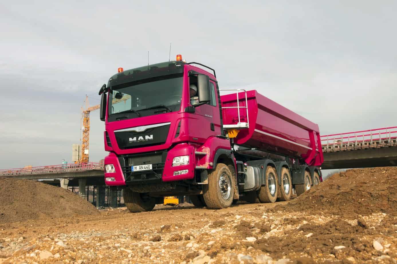 Il MAN TGS è equipaggiato al meglio per affrontare qualsiasi impiego nel trasporto edile