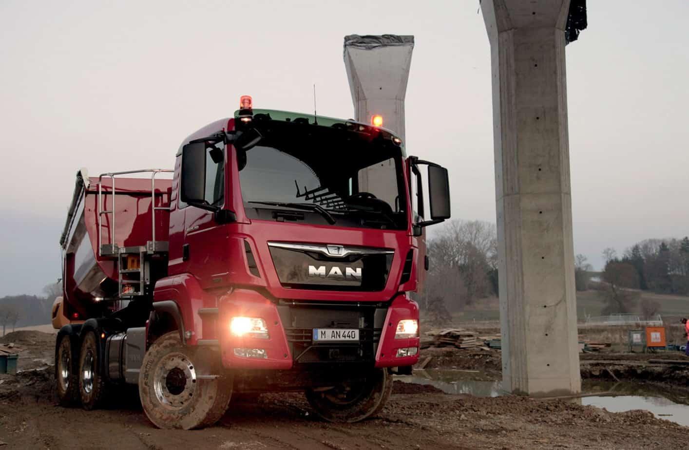 Il frontale del MAN TGS in versione Euro 6 caratterizzato dal nuovo design