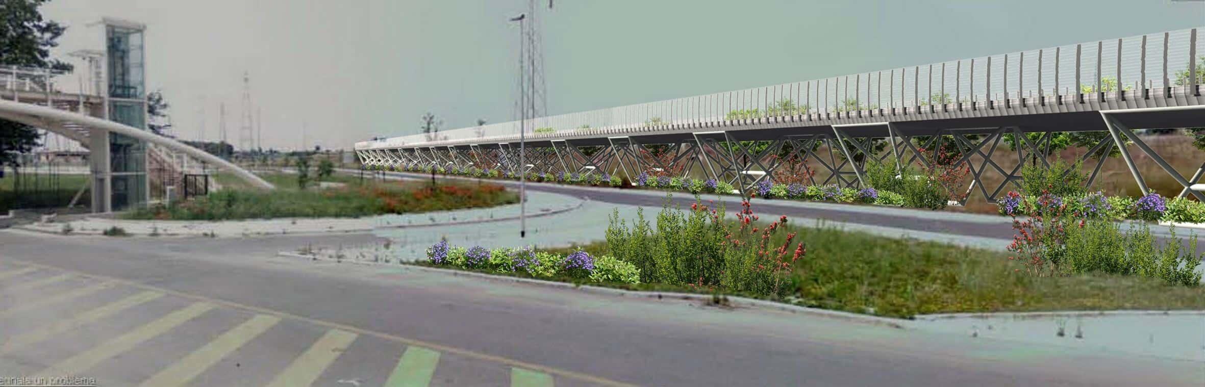 L'interconnessione tra la nuova autostrada, l'A12 e la Roma-Fiumicino