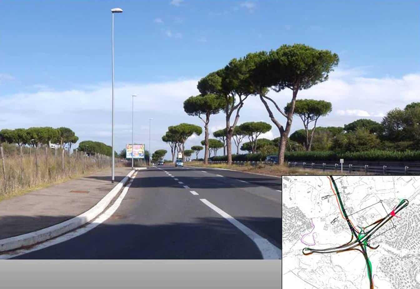 """La situazione attuale del tratto della Pontina all'altezza di Tor de' Cenci dove si innesterà il primo lotto proveniente dalla Roma-Fiumicino. Una sorta di """"GRA esterno"""""""