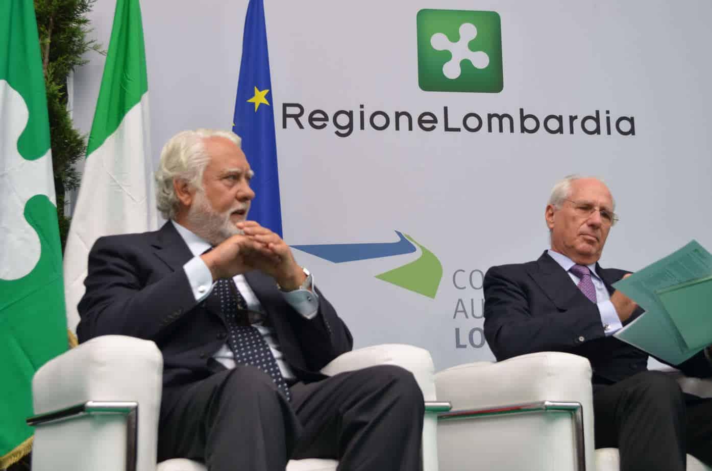 Vincenzo Pozzi e Pietro Ciucci in occasione dell'inaugurazione della BreBeMi