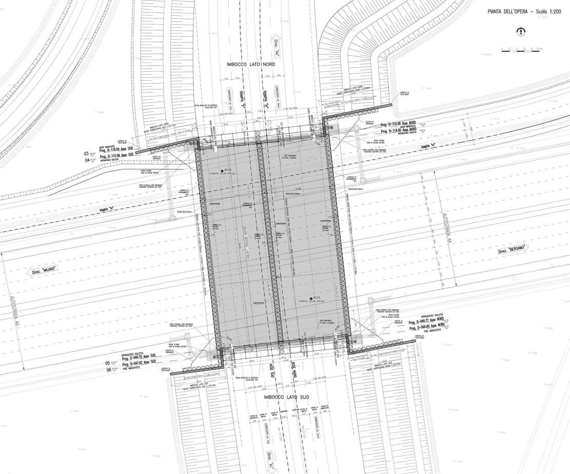 La planimetria e il tracciato delle fondazioni