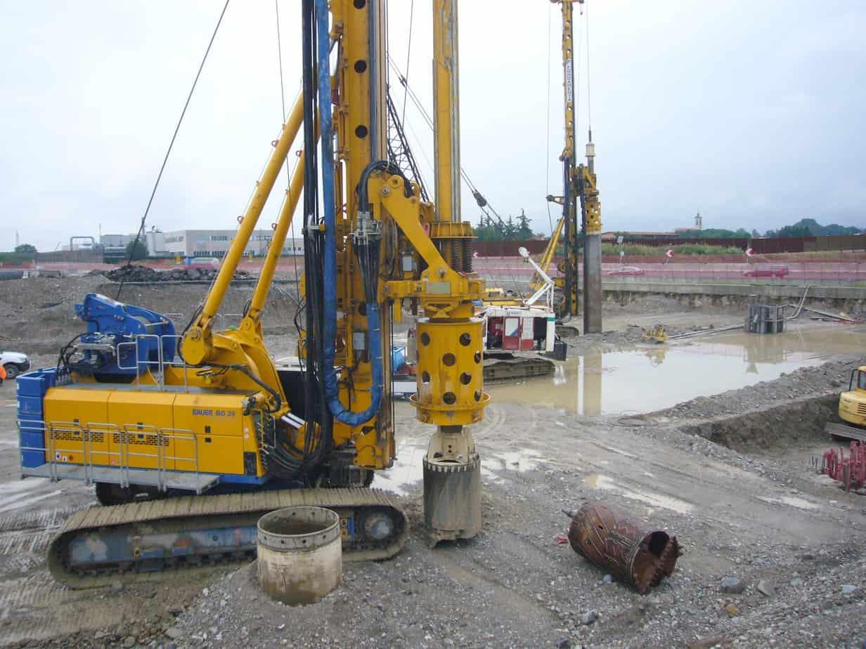 La Bauer BG39 e BG28 in fase di perforazione