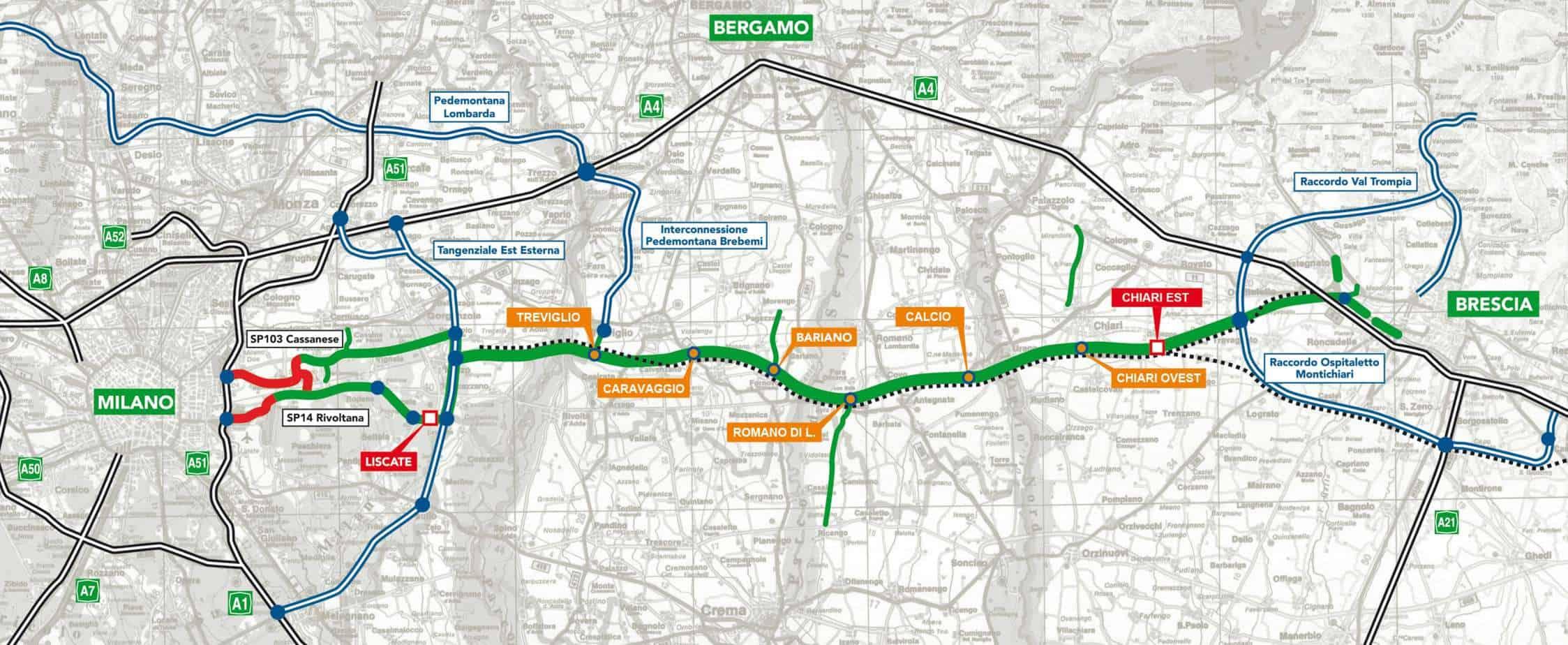 Il tracciato della BreBeMi - (A35)
