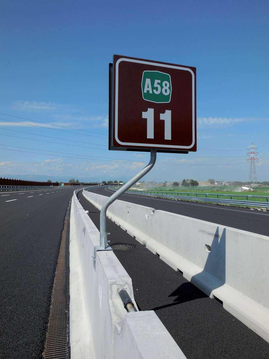 La nuova Autostrada A58