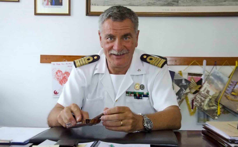 Il Capitano di Vascello Vincenzo Di Marco, Commissario Straordinario dell'Autorità Portuale di Cagliari