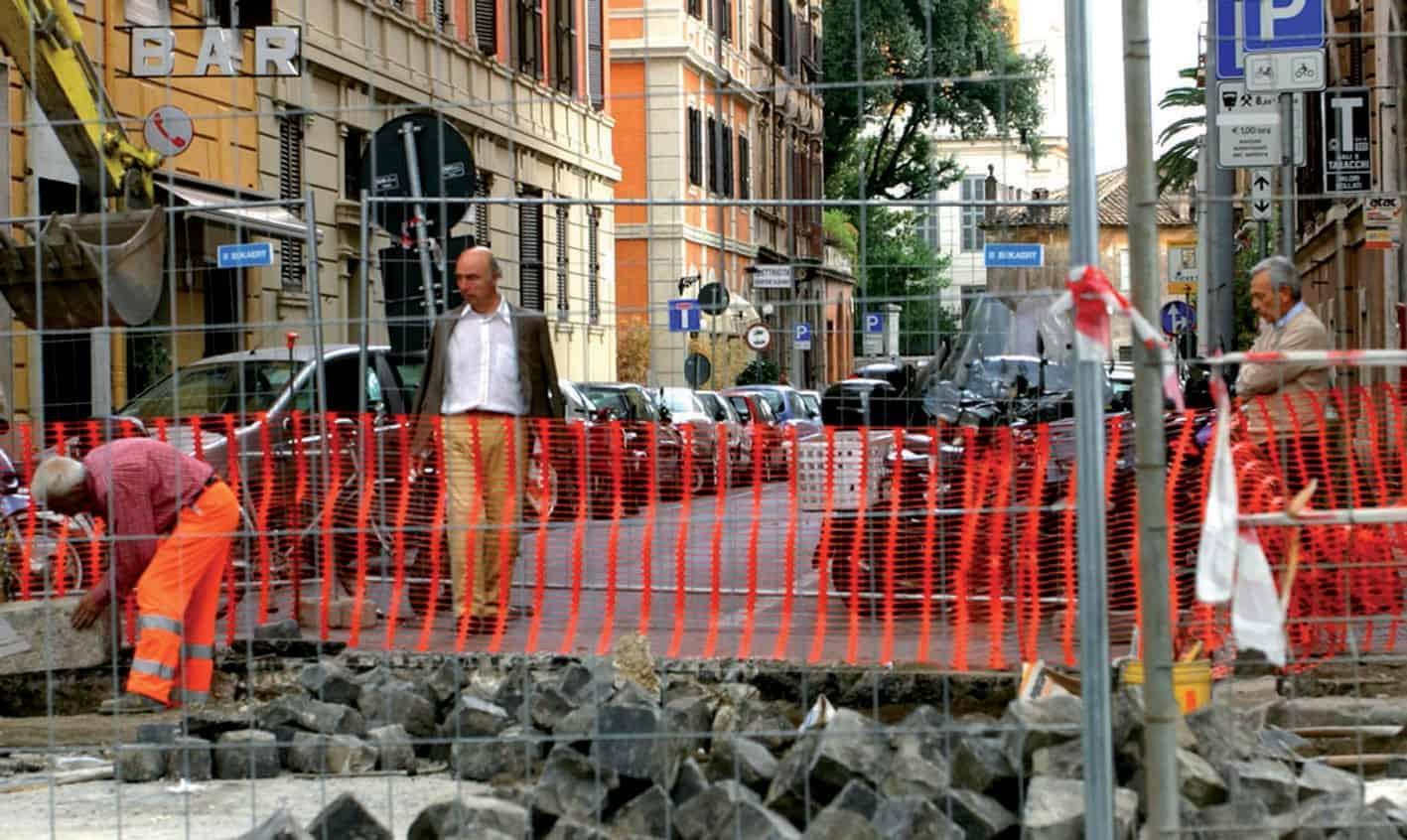 Lavori stradali in città