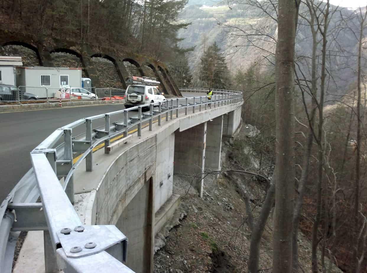 Il portale lato Bolzano nel tratto all'aperto