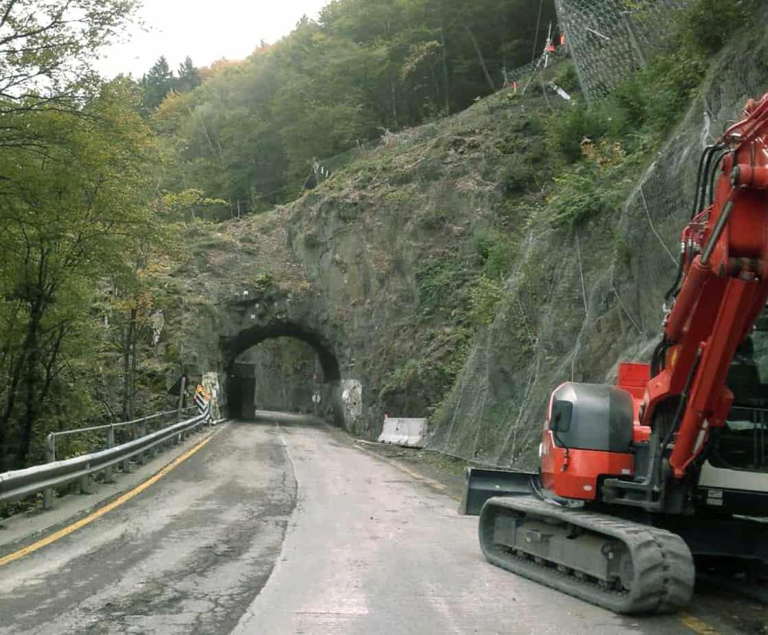 La strada prima la demolizione