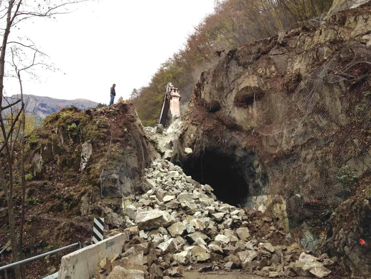 La strada dopo la demolizione