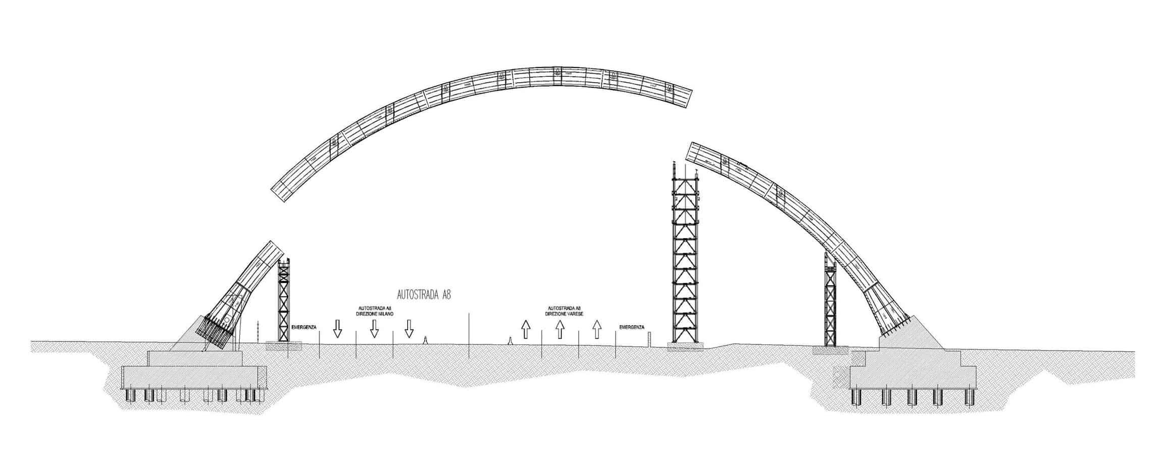 Lo schema di montaggio dell'arco