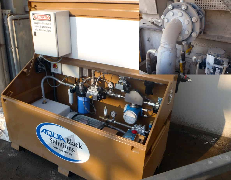 Il kit Aquablack installato su un impianto esistente