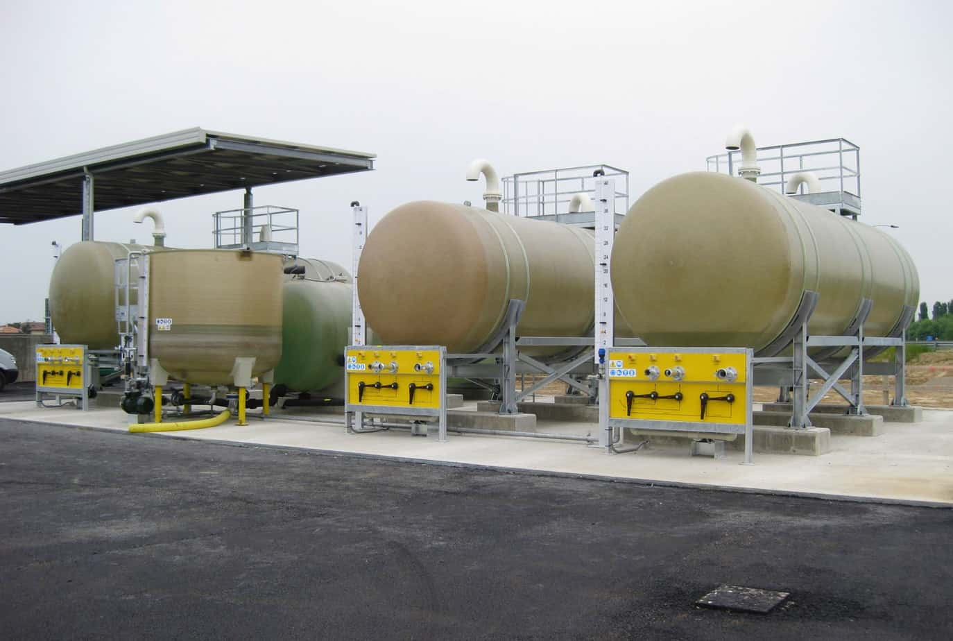 L'impianto di preparazione e di stoccaggio di soluzioni saline presso il Centro di manutenzione di Fara Olivana sulla BreBeMi