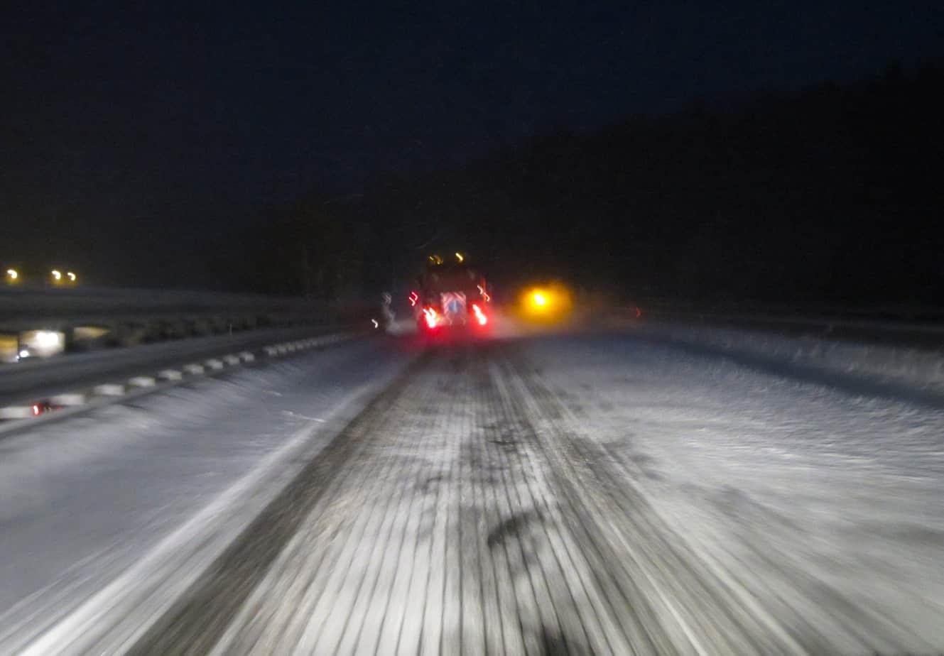 Il Firestorm in azione in Austria: è evidente l'effetto della penetrazione termo-meccanica su neve compatta