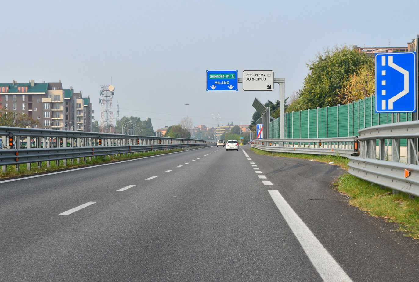 Il tratto di nuova Paullese aperto al traffico nel 2012, tra Peschiera Borromeo e Pantigliate