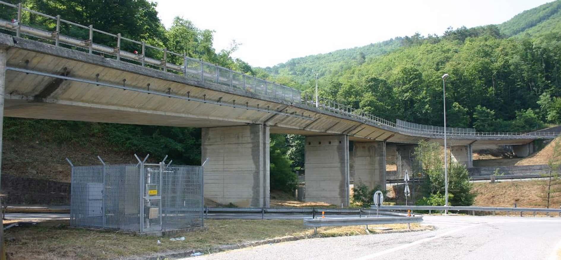 Una vista del viadotto prima dell'intervento di ripristino