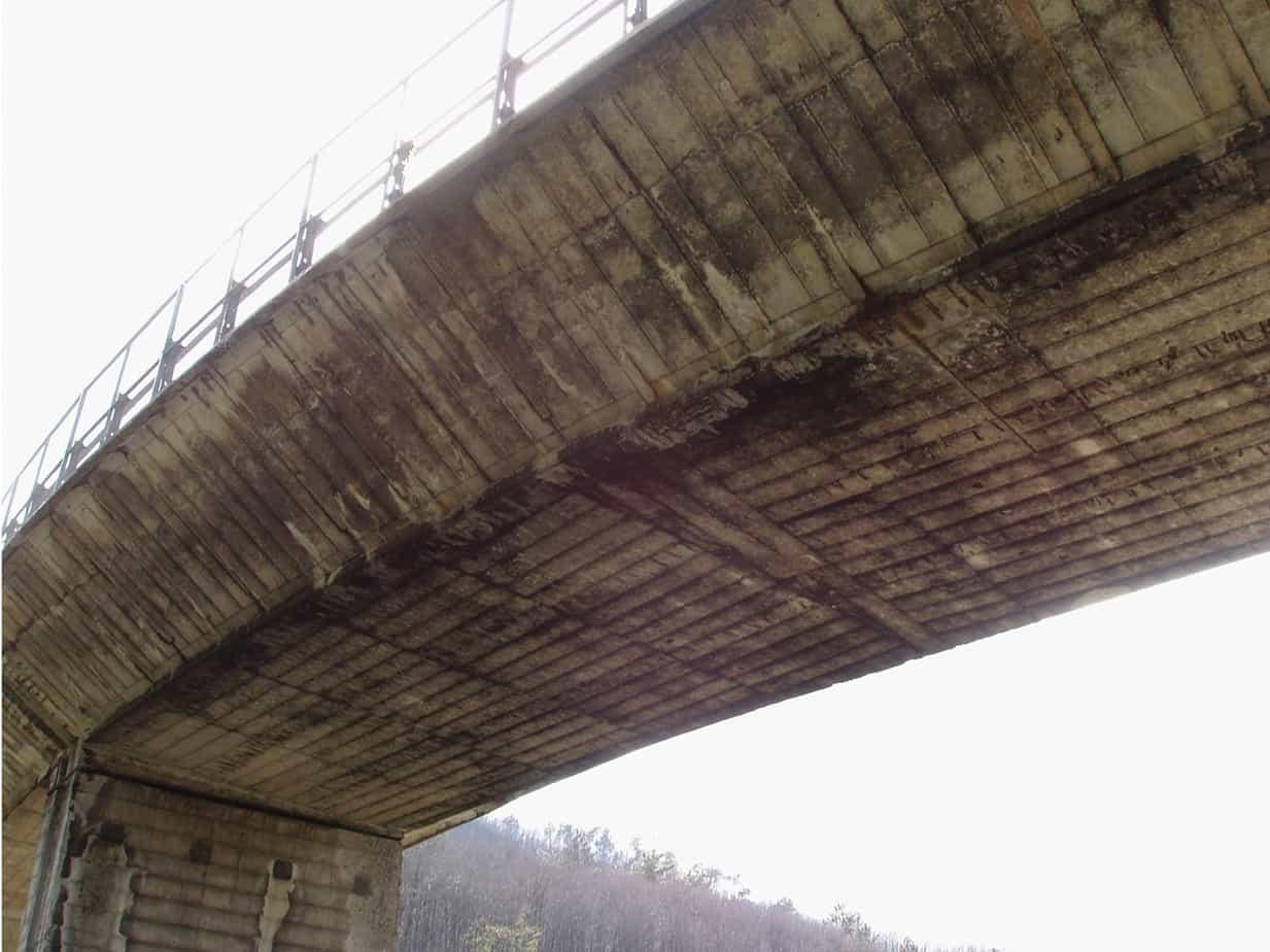 Gli ammaloramenti tipici osservati sulle strutture del viadotto