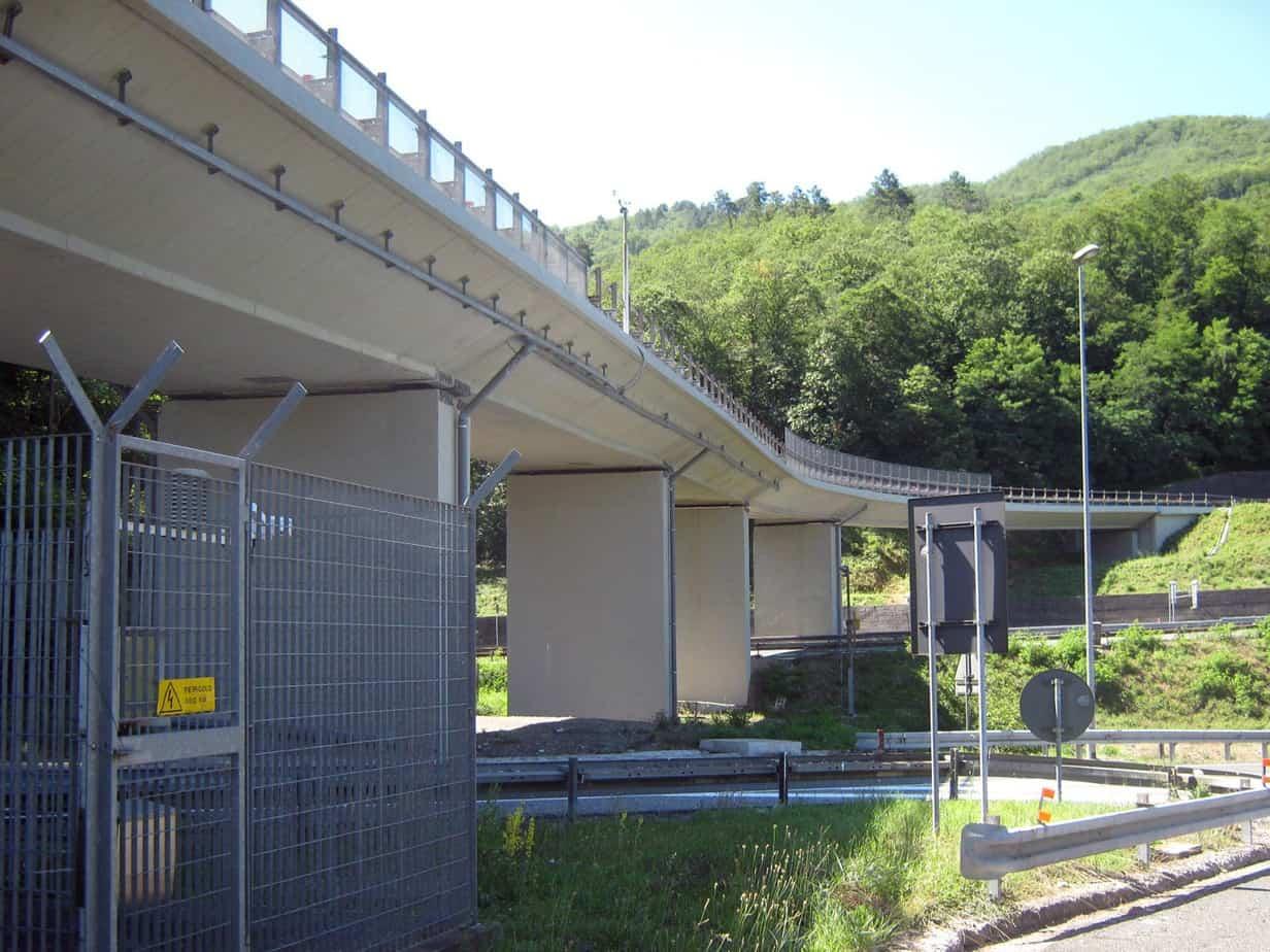 Una vista del viadotto ad intervento completato
