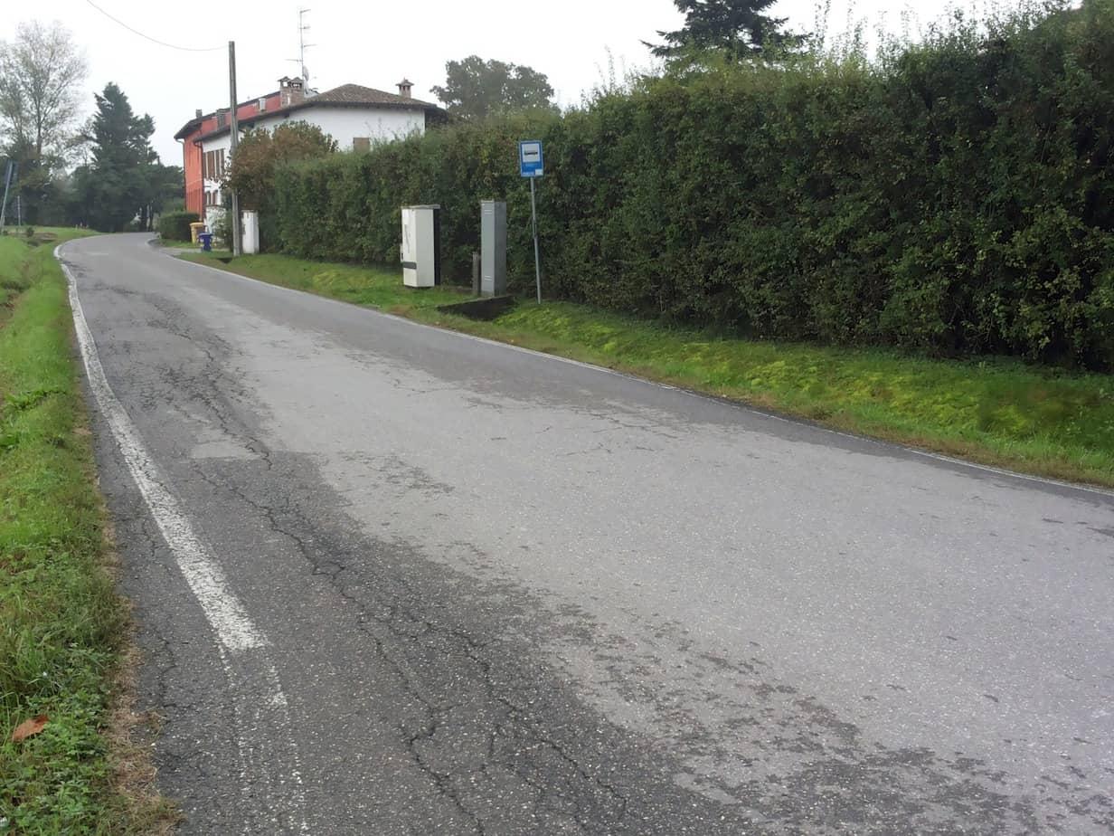 Un esempio di pavimentazione flessibile fessurata