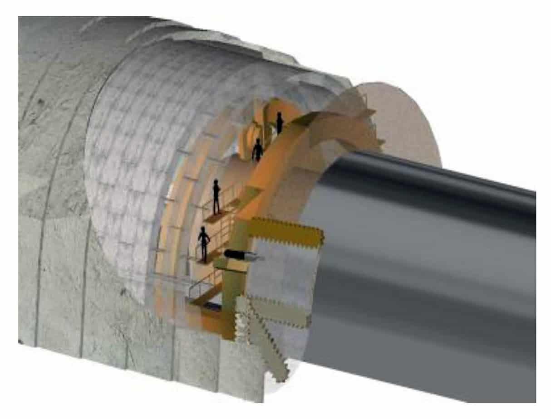 Una vista tridimensionale del pretaglio meccanico