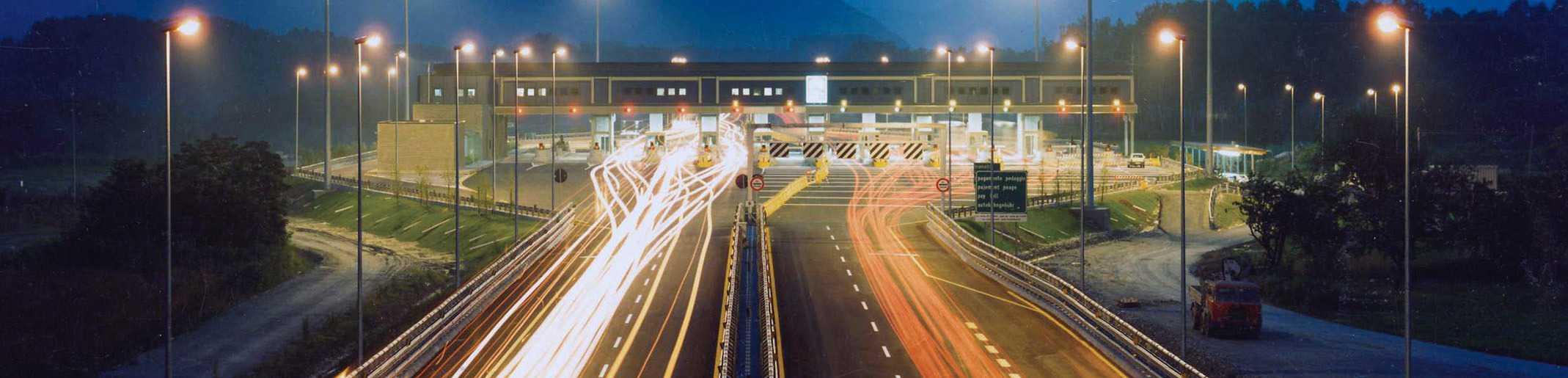 La barriera di Avigliana sulla A32 Torino-Bardonecchia