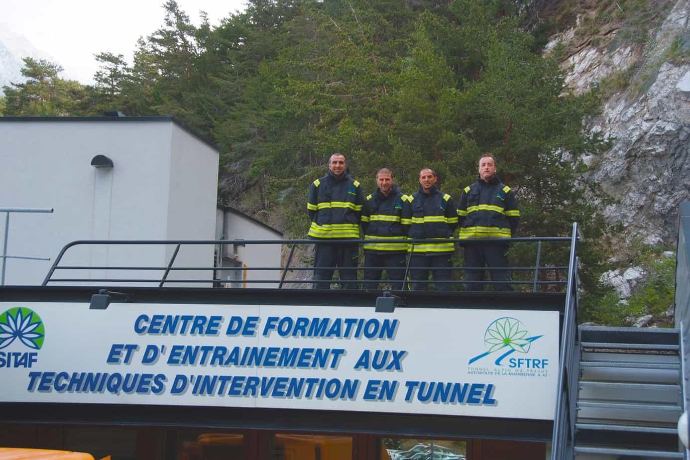 Il simulatore antincendio a Modane