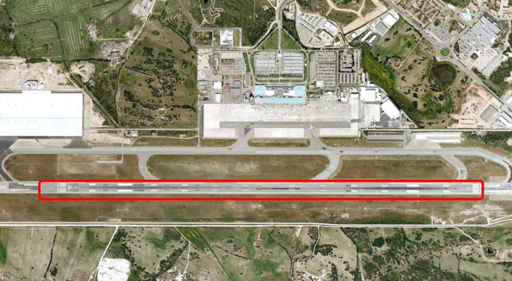 L'inquadramento dell'intervento sulla pista di volo