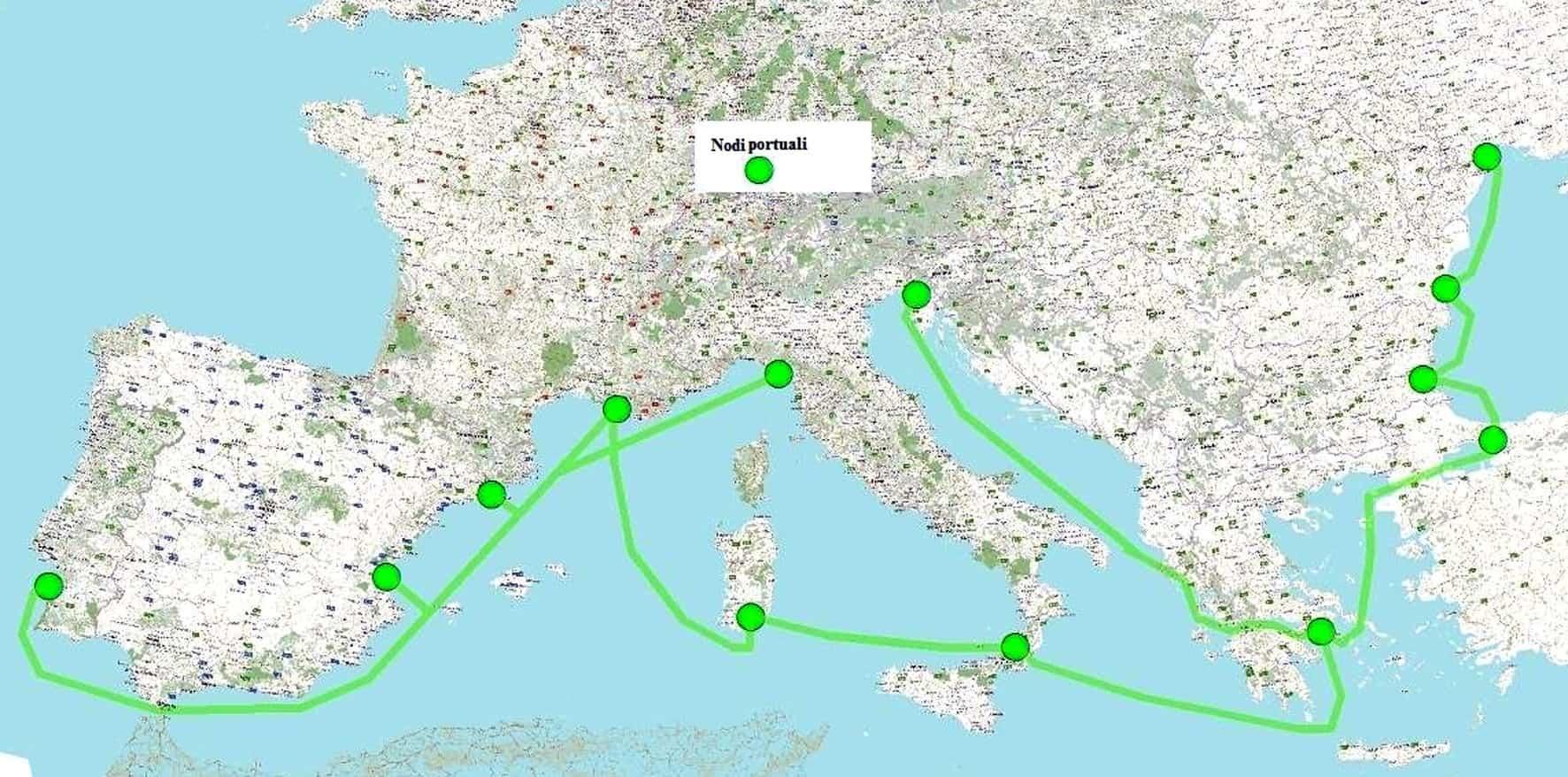 Il piano di sostegno alla logistica del trasporto merci marittimo attraverso la definizione di Corridoi verdi