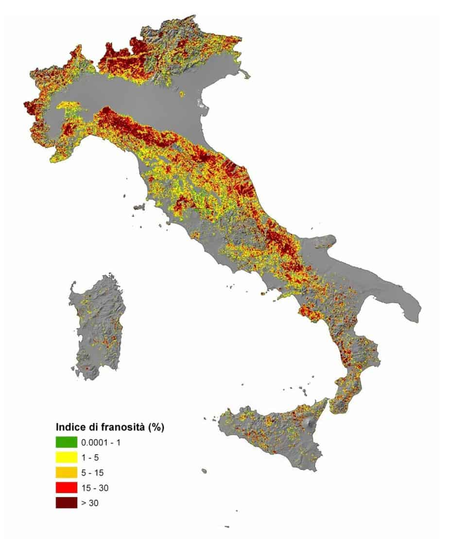 La franosità in Italia IFFI Project (annuario ISPRA 2013)