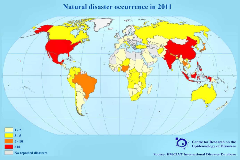 Grafici dei disastri naturali dal 1900-2011 (EM-DAT)