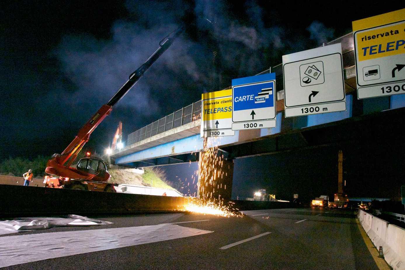 I lavori per il raccordo fra TEEM e A1 Milano-Napoli