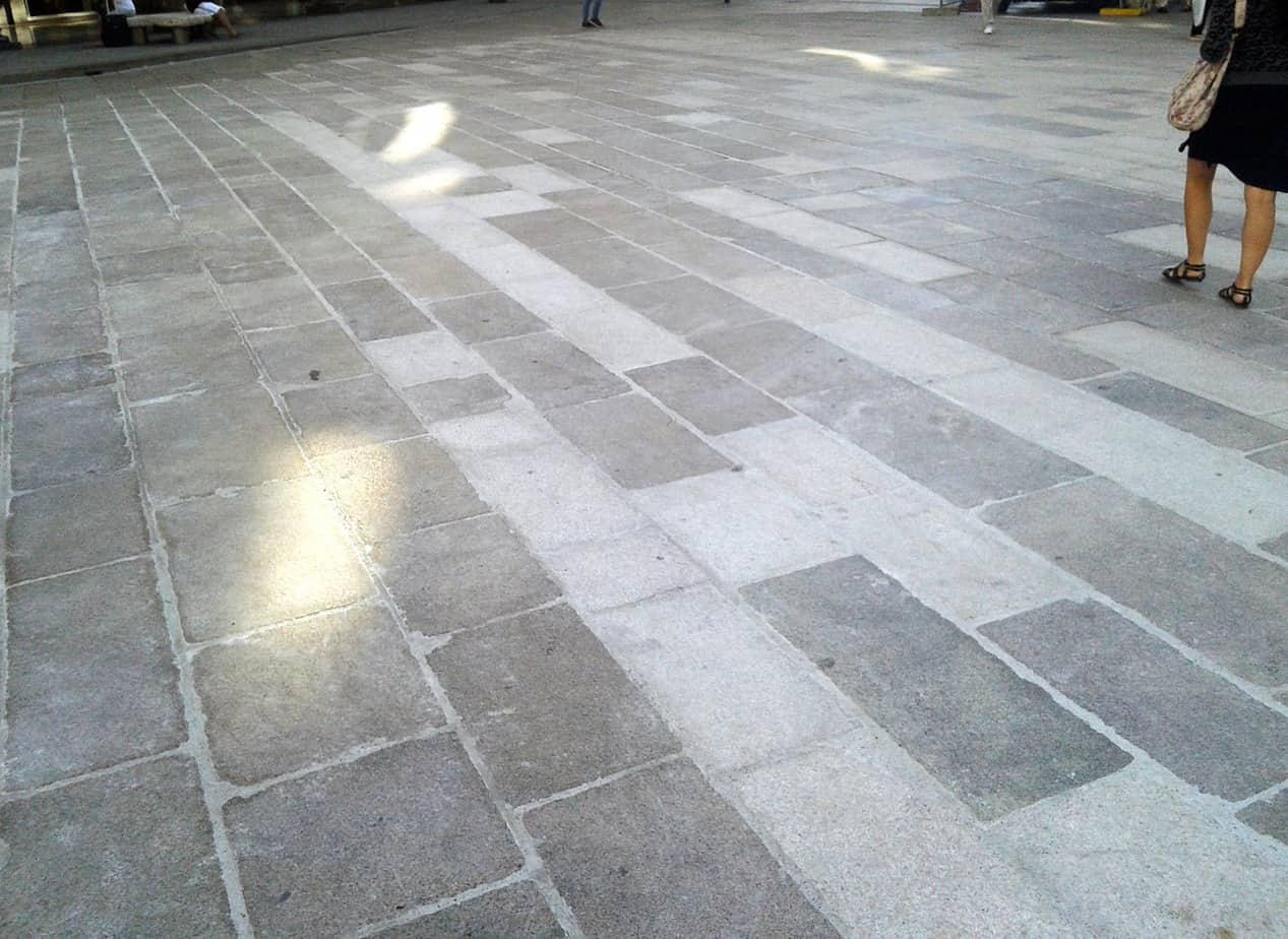 La pavimentazione posata