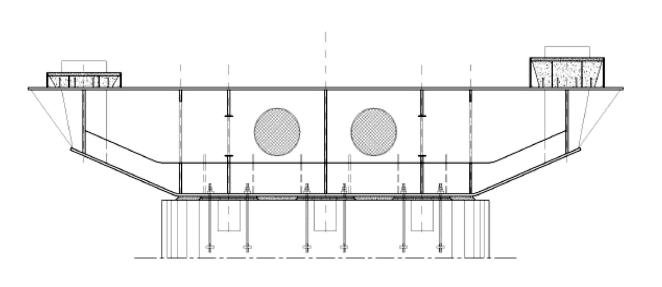 La sezione longitudinale del pulvino