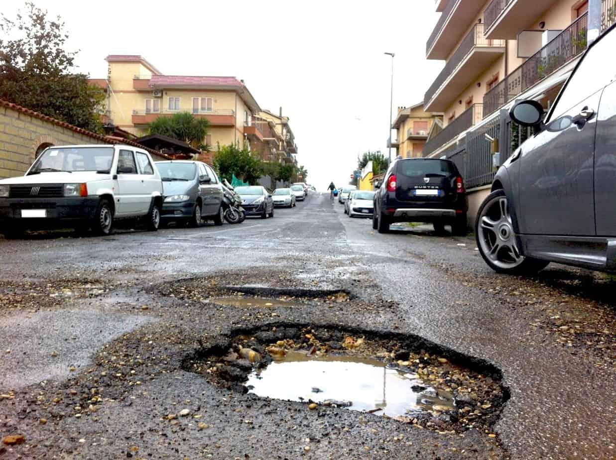 Tipici problemi sulla pavimentazione stradale