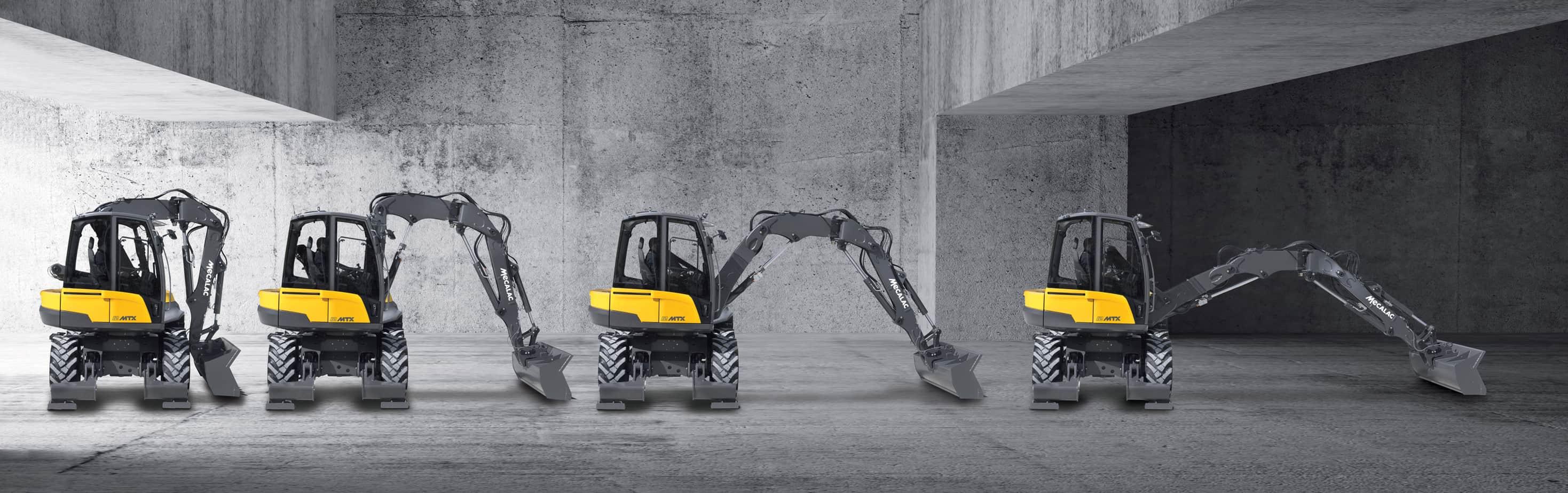 In una sola macchina si ha un escavatore, un caricatore, un sollevatore e un porta-attrezzi: le capacità di ciascuna di queste funzioni si moltiplicano