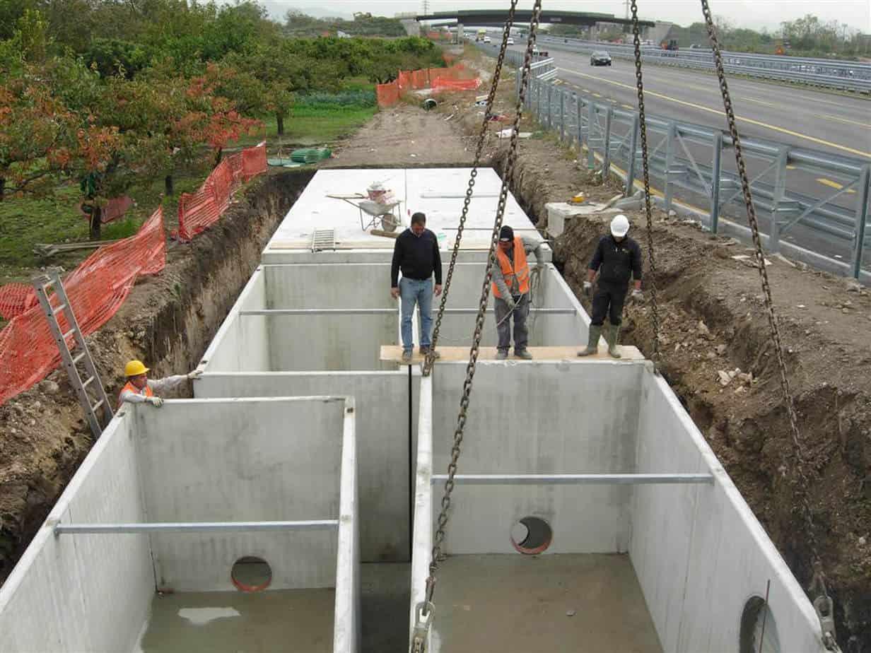 Vasche di prima pioggia tecnologiche in c.a.