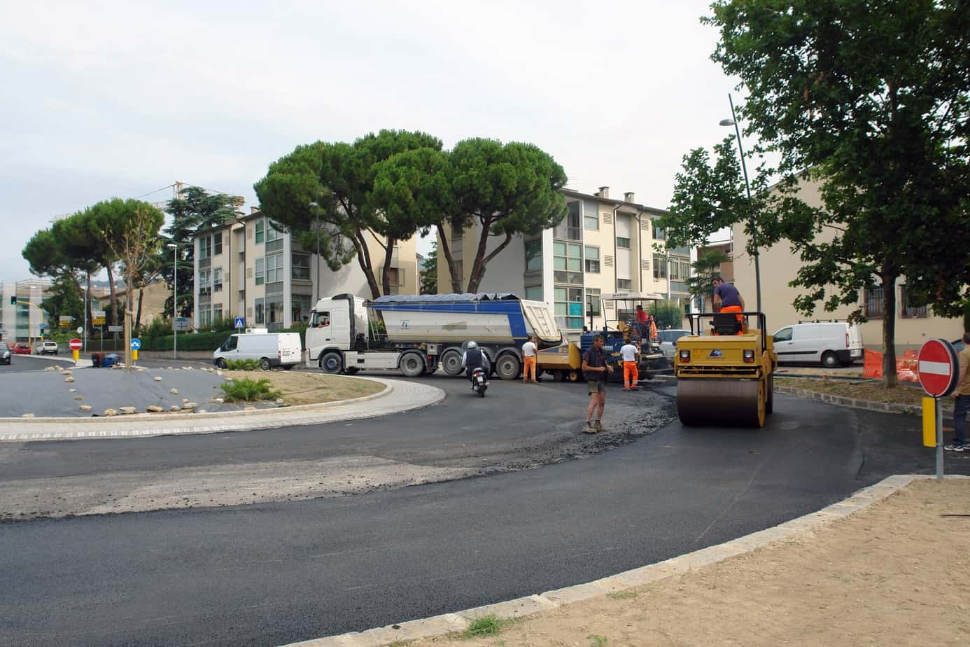 Intervento di manutenzione stradale in ambito urbano