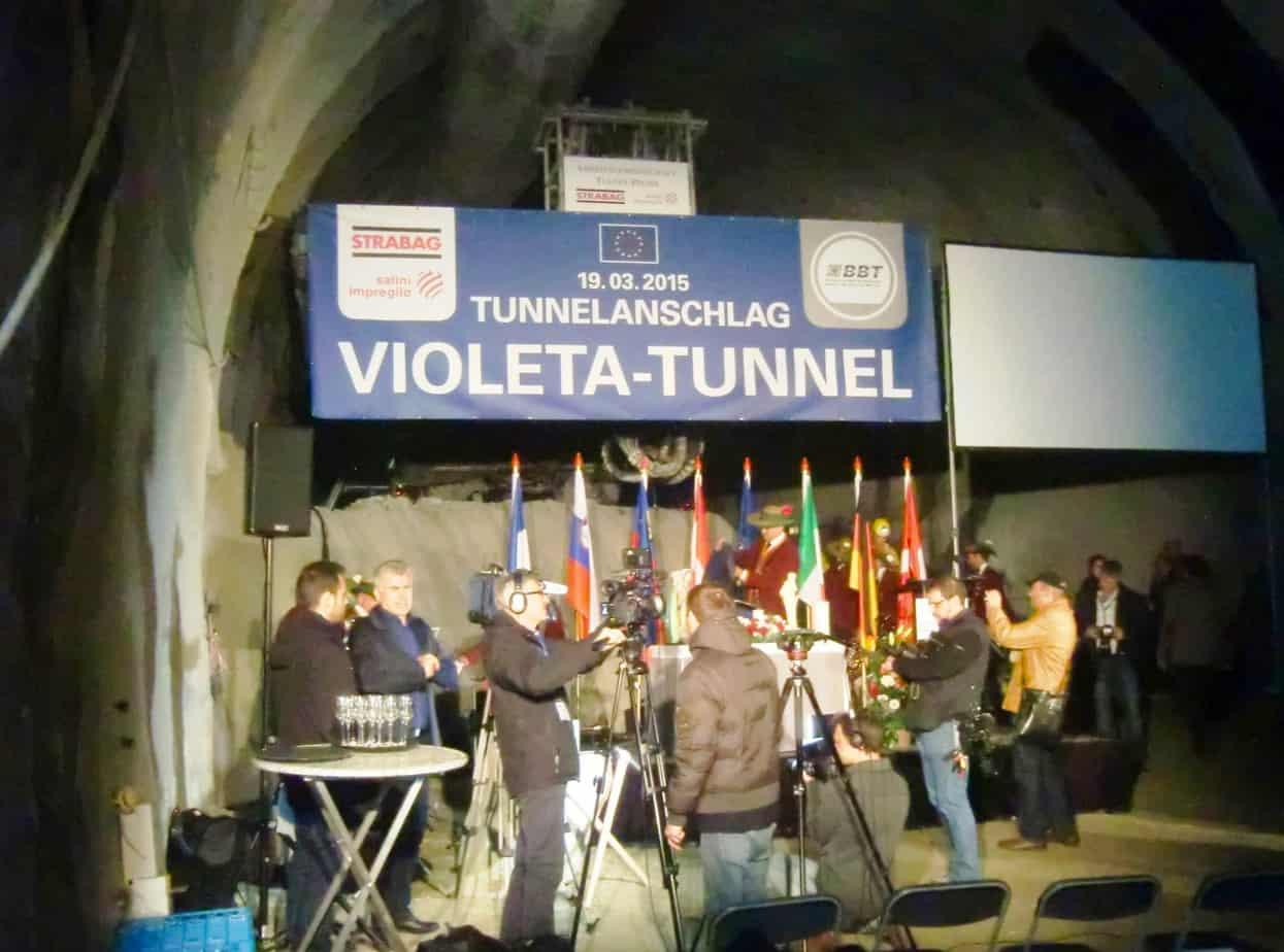 Nel cantiere di Ahrental si è svolta la prima volata - lato austriaco - per la canna principale del traforo di base del Brennero