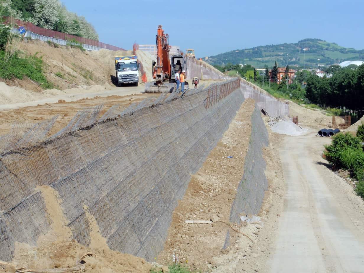 Vista d'assieme dei lavori di ampliamento: la struttura TA01