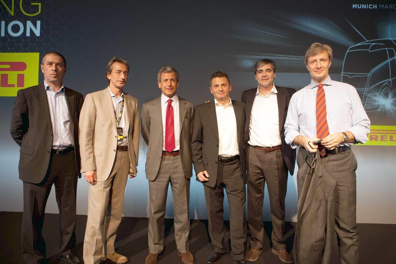 Da sinistra, Alessandro Ascanelli, Giorgio Audisio, Giovanni Pomati, Angelo Giombelli, Alberto Viganò e il Giornalista Roberto Boccafogli