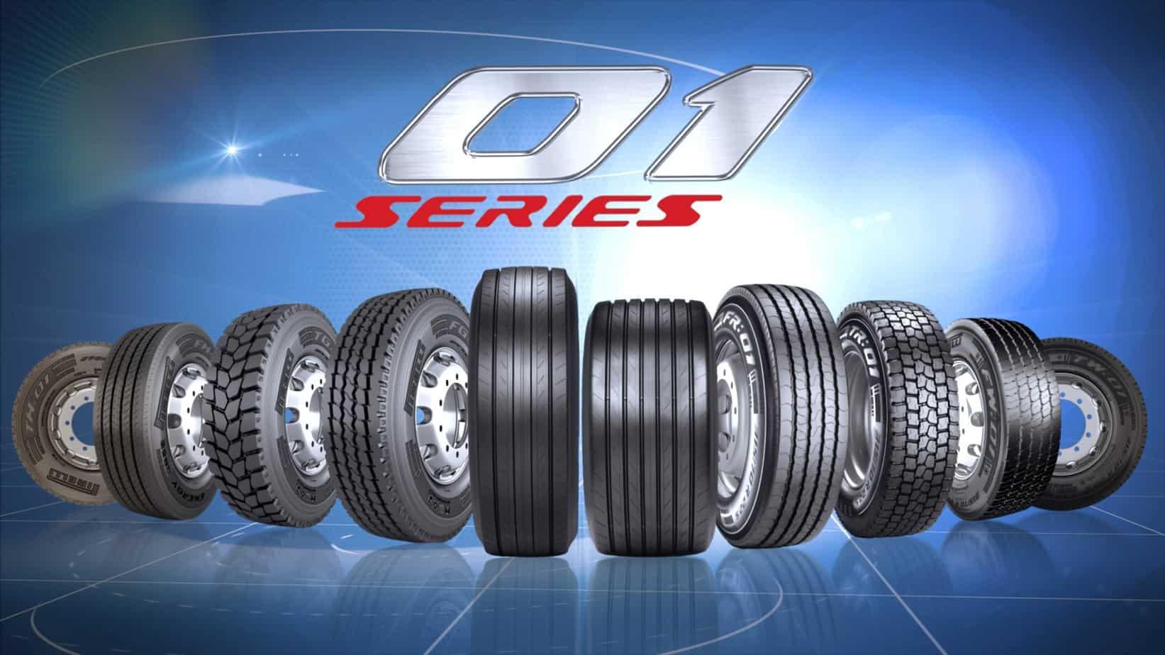La Serie 01 è la gamma di pneumatici per veicoli industriali che, grazie alla riduzione delle emissioni inquinanti, assicura economicità di esercizio, sicurezza e rispetto dell'ambiente